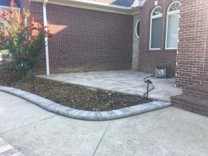 Paver Landscaping Border and Paver Patio