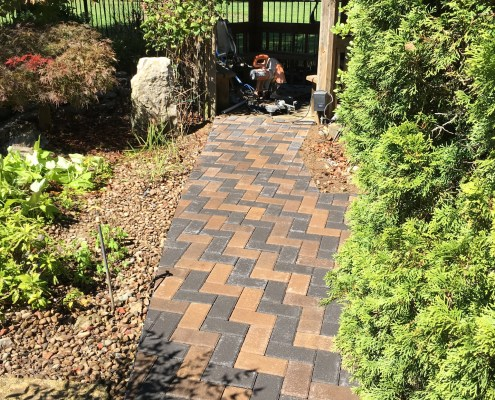 Paver Walkway with Gazebo
