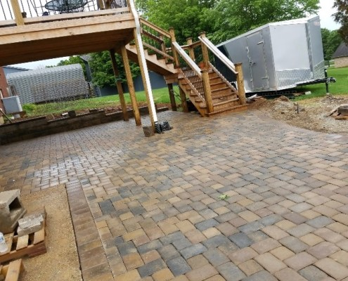 Paver Patio under Deck