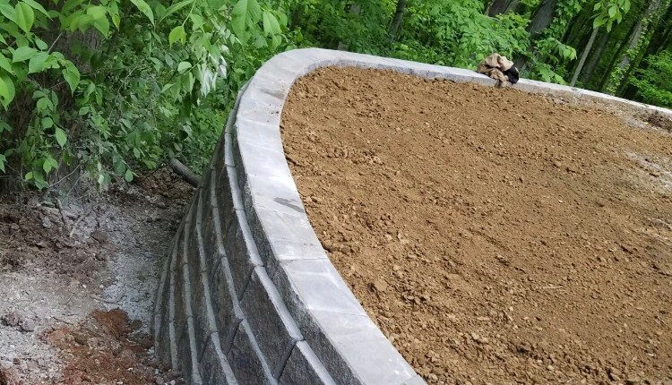 Grey Retaining Wall