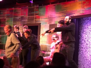 Mike Pound leaving the stage at Second City. The entire cast is in the picture inlcluding a semi-naked Jevffery Murdock