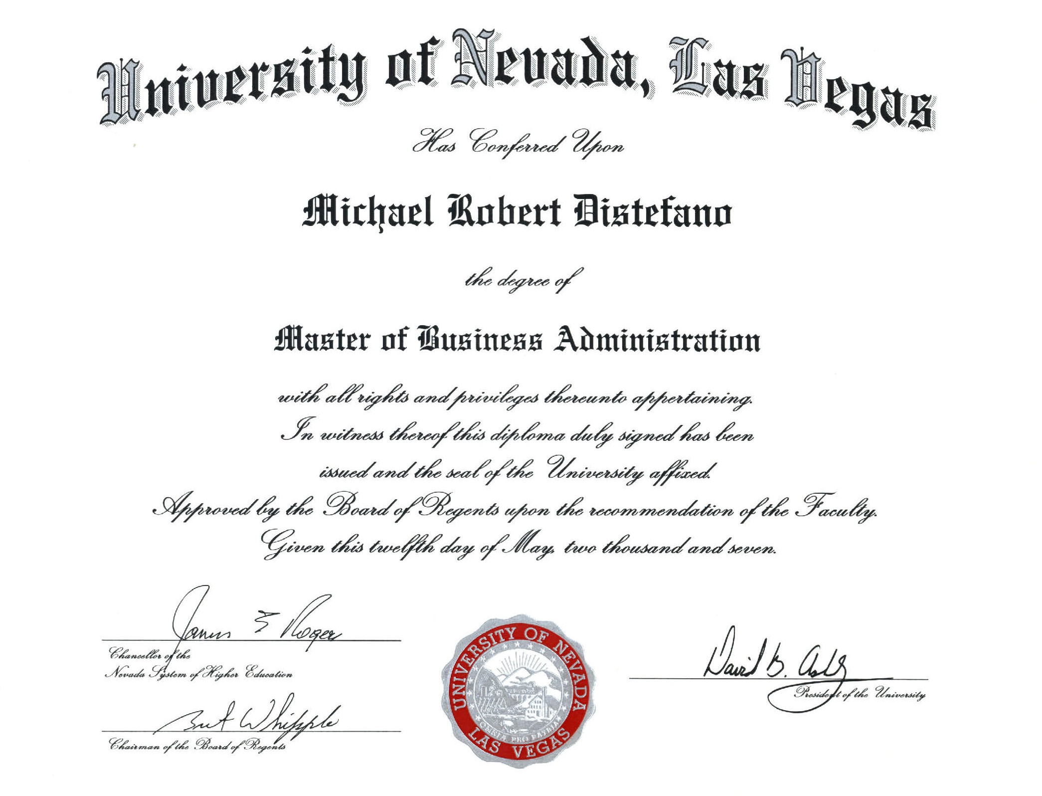 Opinions On Master Of Business Administration