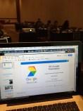 Getting set up for the Google Basics presentation at SPJ JournCamp in Las Vegas.