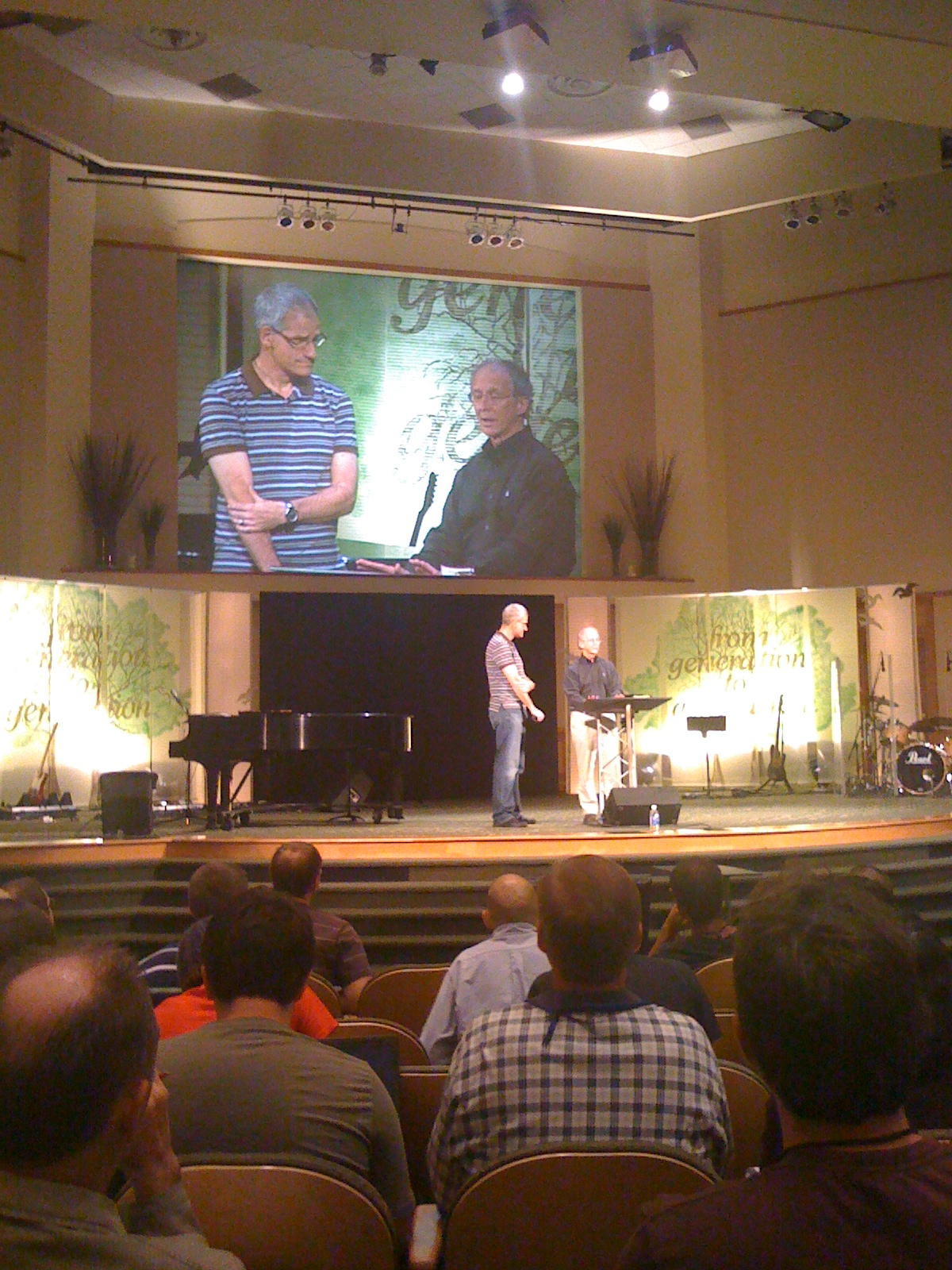 Pastor Piper praying for Bob and all worship leaders