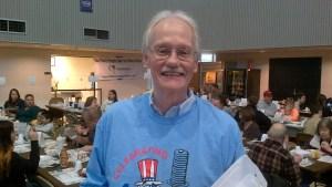 Mike volunteering at Kiwanis pancake breakfast.