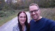 Randi and I at the park in West Des Moines where we got our wedding pictures taken 10 years ago.