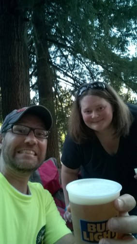 Me and Sarah at the pre-fireworks concert in the woods