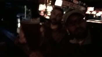 Drinking a beer in Portland. Bar unknown.