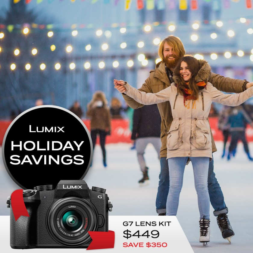 Lumix G7 kit $449 Save $350