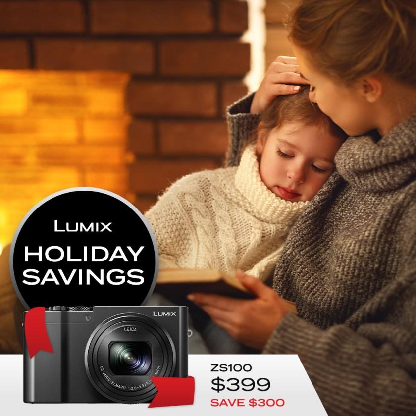 Lumix ZS100 premium compact $399 Save $300