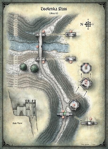 Mike Schley: Curse of Strahd &emdash; Curse of Strahd; Tsolenka Pass (Digital DM & Player Versions)