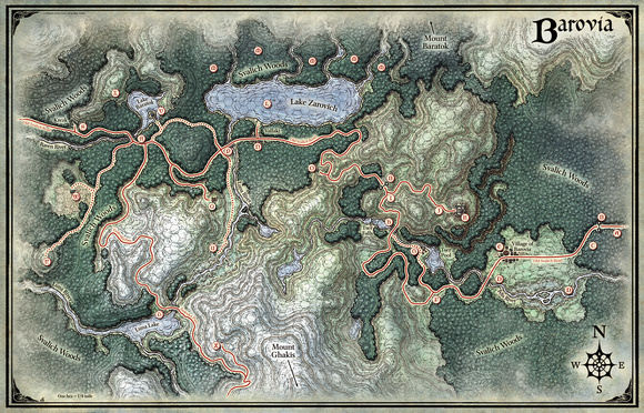 Mike Schley: Curse of Strahd &emdash; Curse of Strahd; Land of Barovia (Digital DM & Player Versions)  $1.75