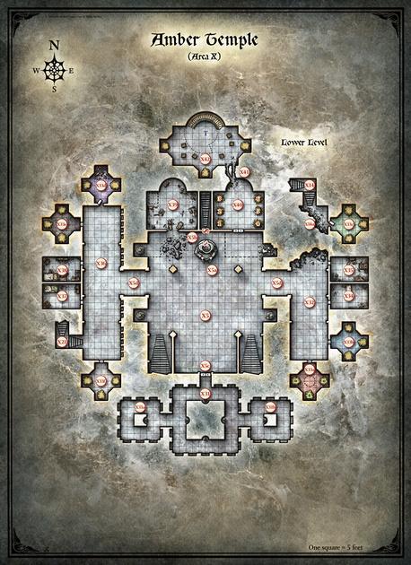Mike Schley: Curse of Strahd &emdash; Curse of Strahd; Amber Temple 2 (Digital DM & Player Versions) $1.75