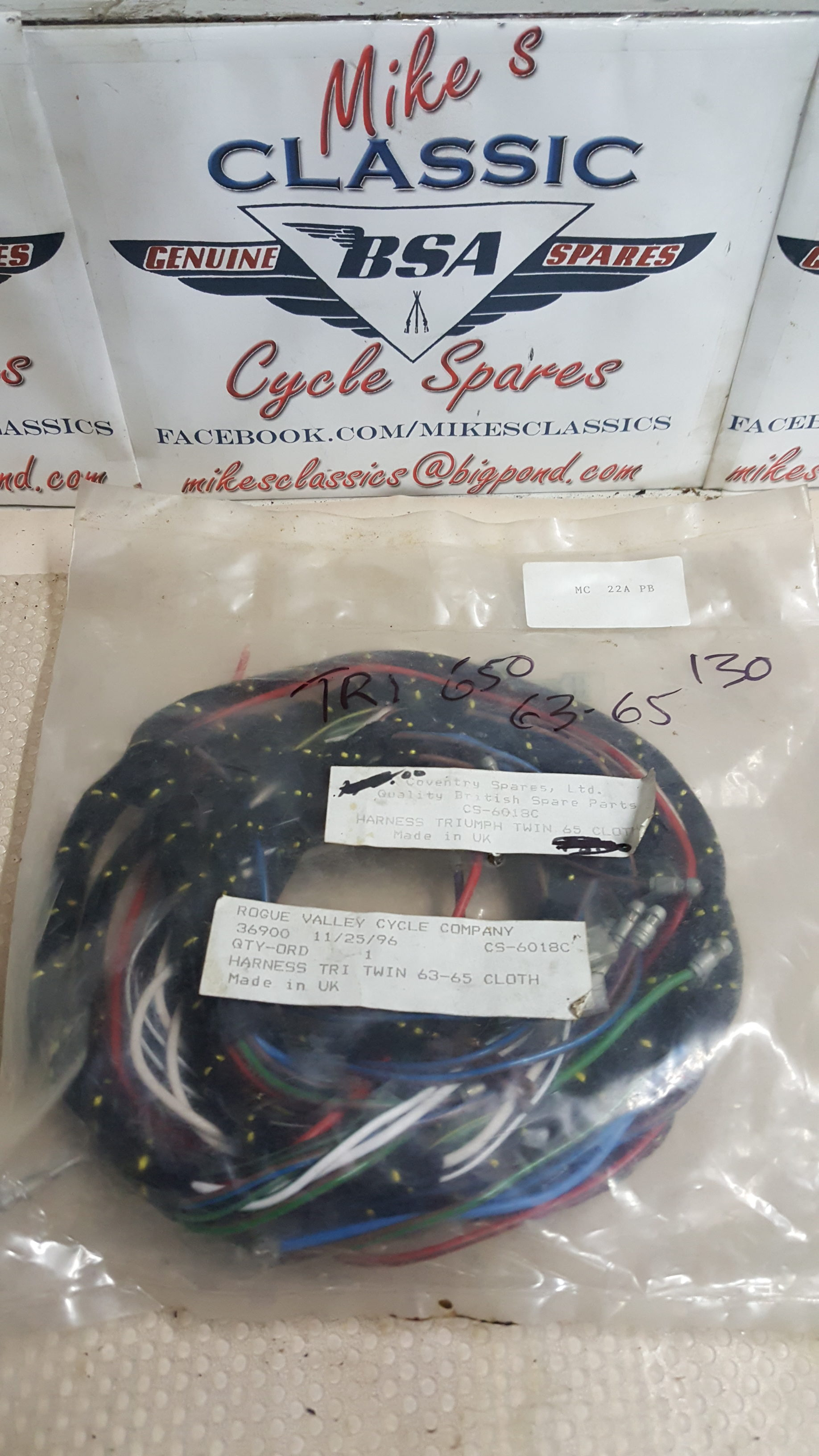 20170731_100229 e1501462859455?fit=1836%2C3264&ssl=1 new 1963 1965 triumph 650 cloth wiring harness cs 6018c mikes cloth wiring harness at gsmx.co