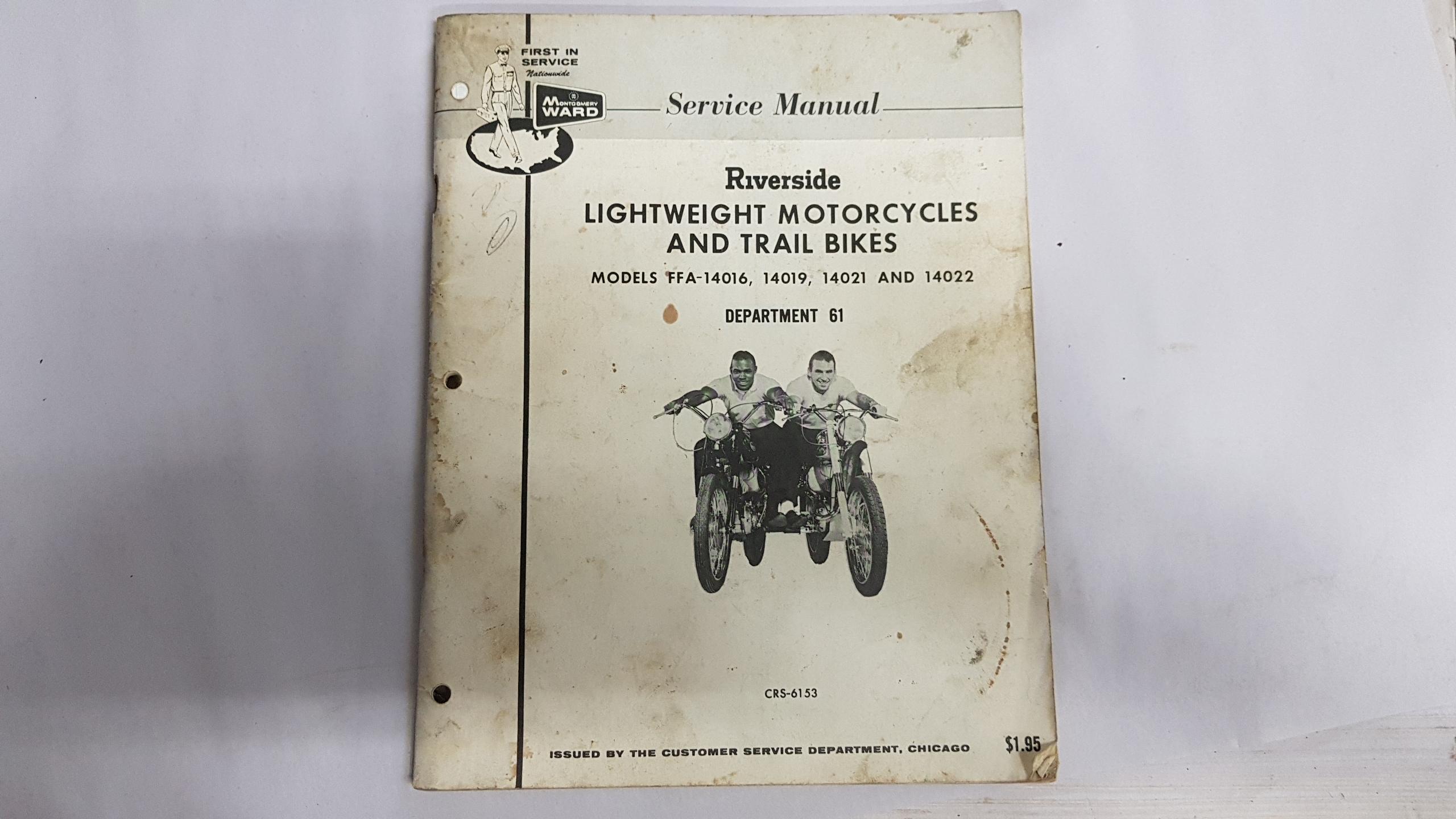 MONTGOMERY WARD RIVERSIDE MOTORCYCLE SERVICE MANUAL