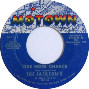 The Jackson 5 One More Chance Motown