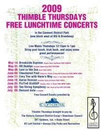Thimble Thursdays Concert Poster