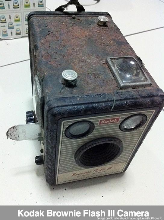 Kodak Brownie Flash III camera - angled 544px