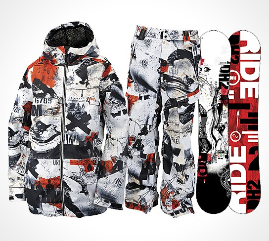 WK Interact x Ride Snowboards Collection Fall 2011 544x488px