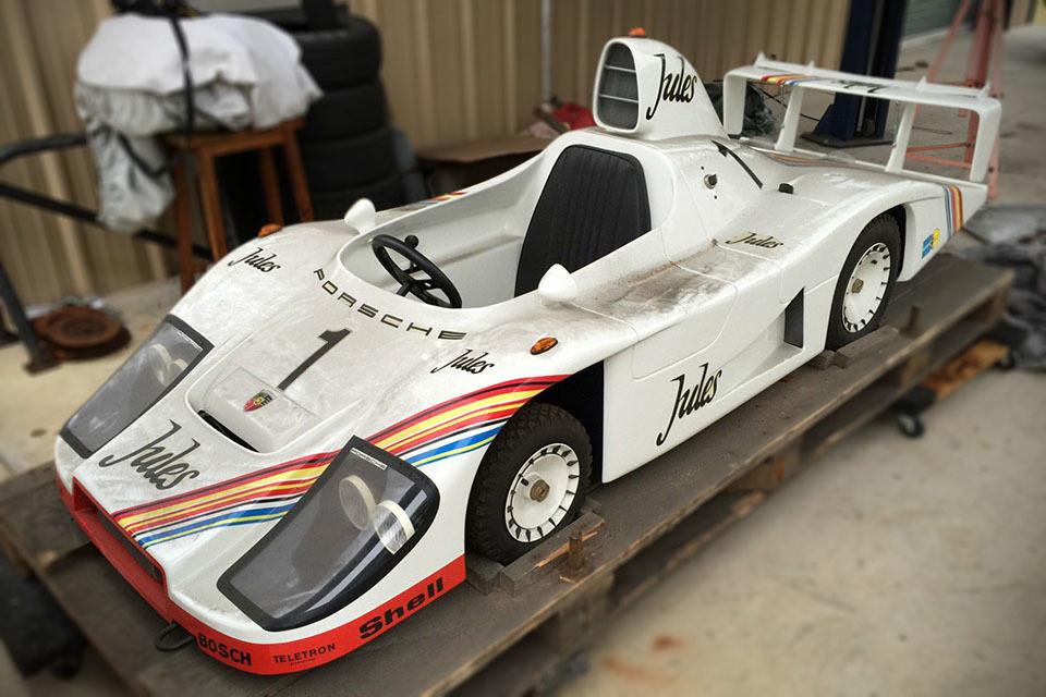 Super Rare 'Still-in-the-Box' Porsche 936 Go-Kart Replica Uncovered