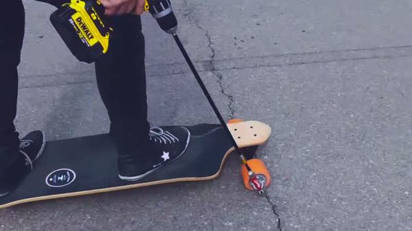 DIY Drill-powered Skateboard Left Us Pretty Much ...