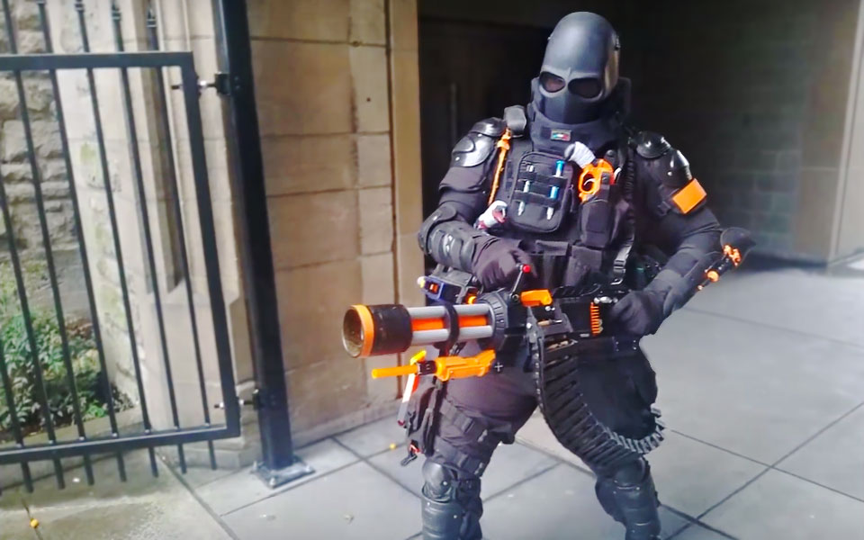 This DIY NERF Rival Minigun Spits Out Foam Balls At 20 Rounds/Sec