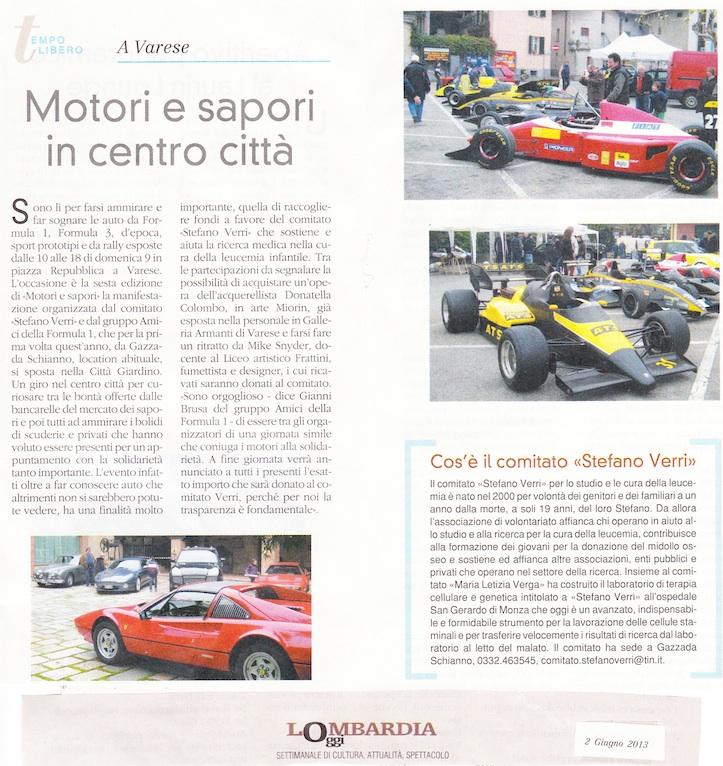 Motori&Sapori, con disegni di Mike Snyder, artista, fumettista, illustratore, domenica 9 giugno 2013, Piazza Repubblica, Varese, dalle 10.00 alle 18.00