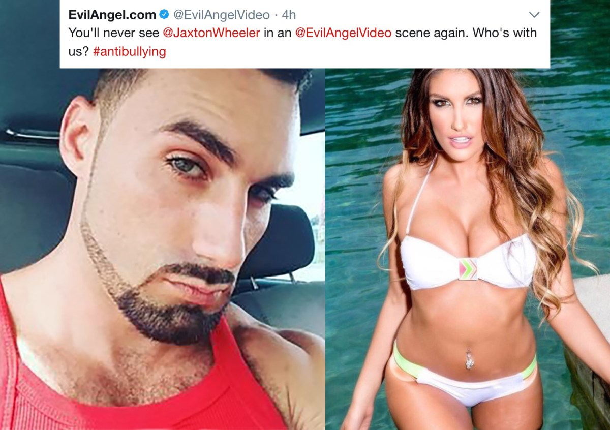 Evil Angel Bans August Ames Bully Jaxton Wheeler