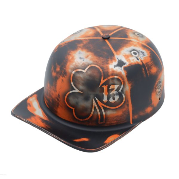 You can give luck new meaning with a classic doughboy lucky 13 lid that fits anyone's style of riding luck. Custom Motorcycle Helmet   Cool Motorcycle Helmet   Designer Riding Gear   Badass Motorcycle Helmet   Unique Gifts for Him   Riding Gifts for Her   Hat Helmet #motorcyclegear #designermotorcycle