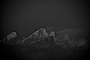Everest as seen from Darjeeling