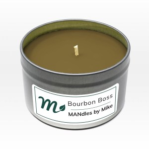 Handmade Bourbon Boss candle