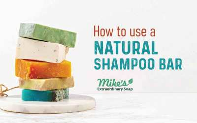 How to use a natural shampoo bar