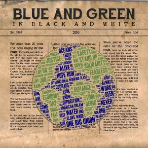 """Blue and Green in Black and White"" Album Cover"