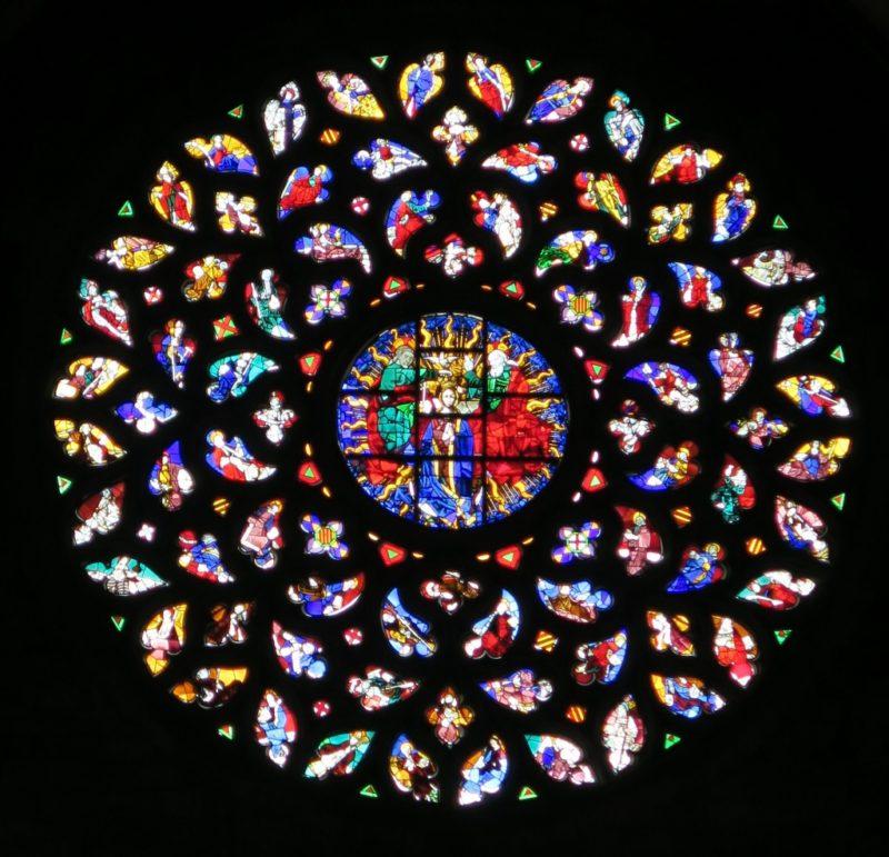 Rose Window Basilica of Santa Maria del Mar Barcelona