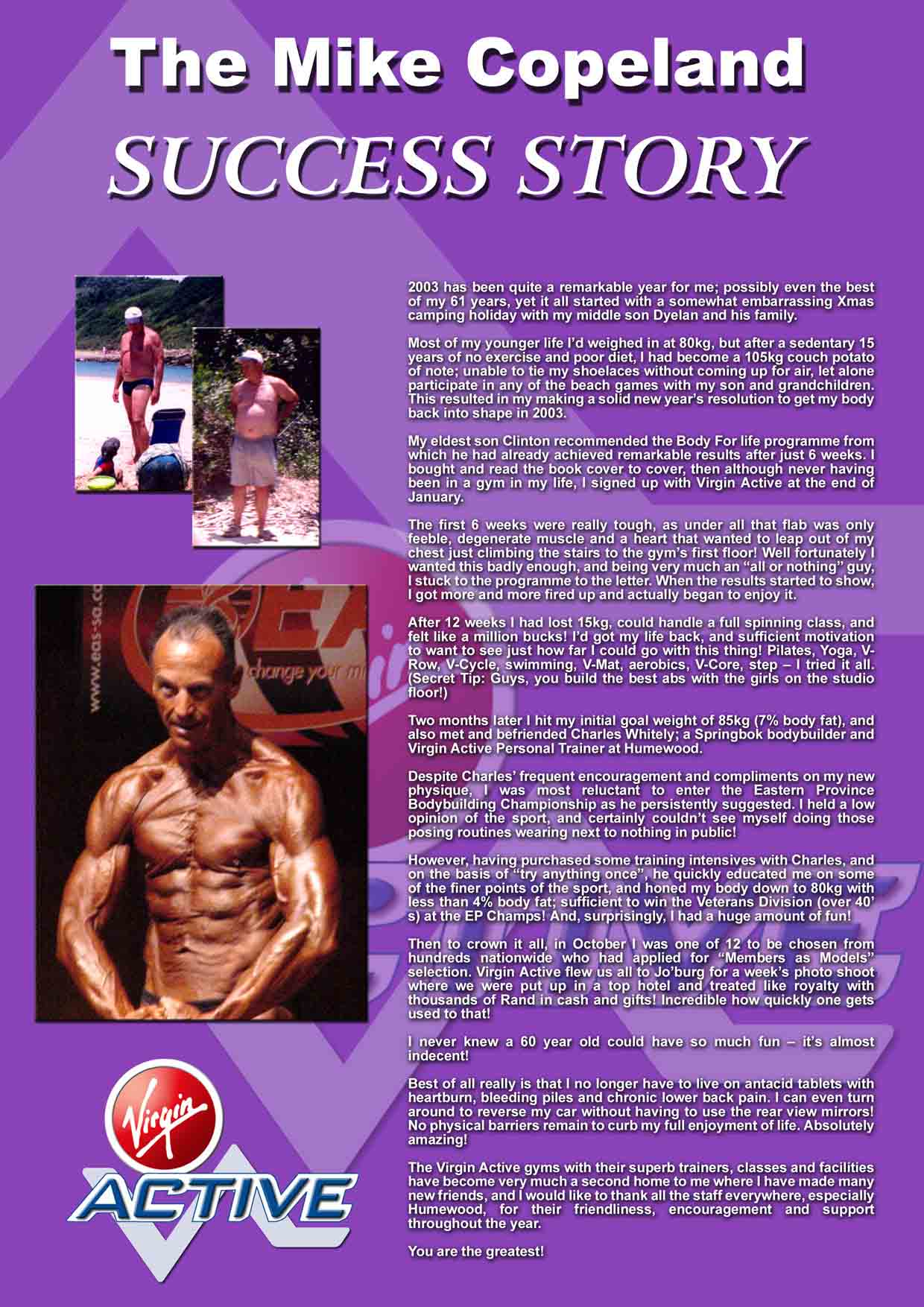 the mike copeland success story - About