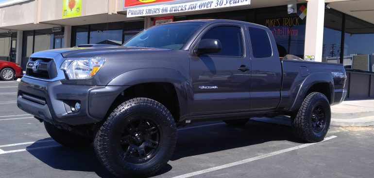 """2014 Toyota Tundra - Installed 3"""" Icon Vehicle Dynamics Coil Over Suspension, with factory Rims, 35 X12.50 R20 Cooper"""