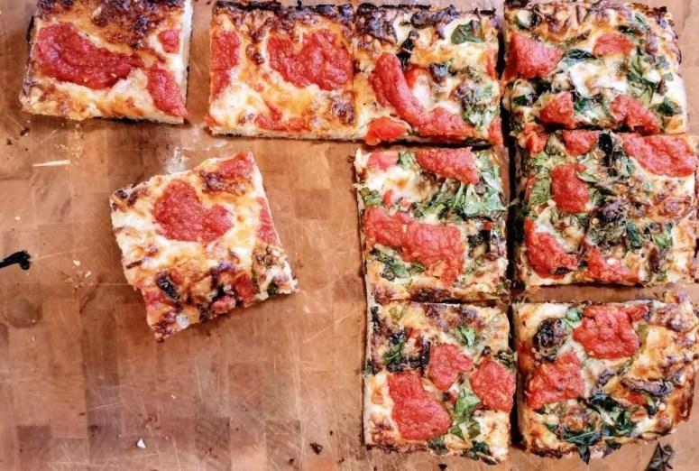 Homemade Detroit Style Pizza