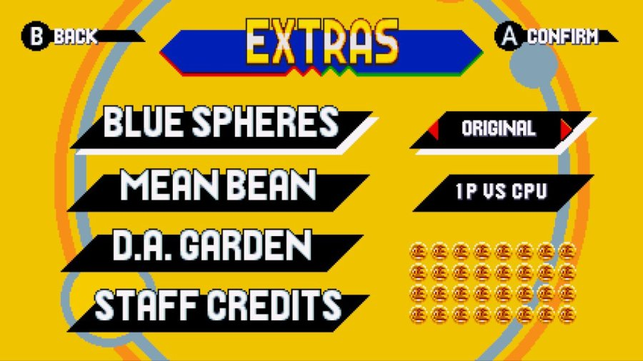 Sonic Mania Extras 3 Bonus Stages and Gold Medals
