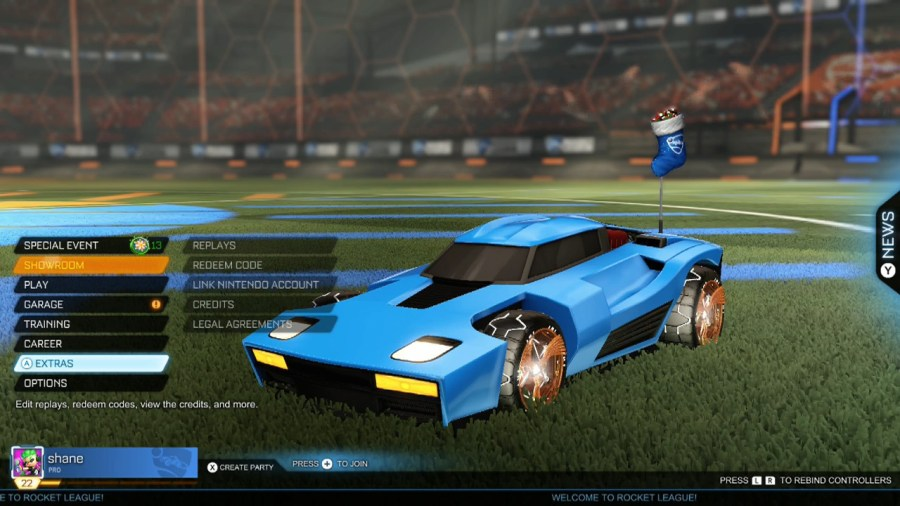 rocket league fan rewards