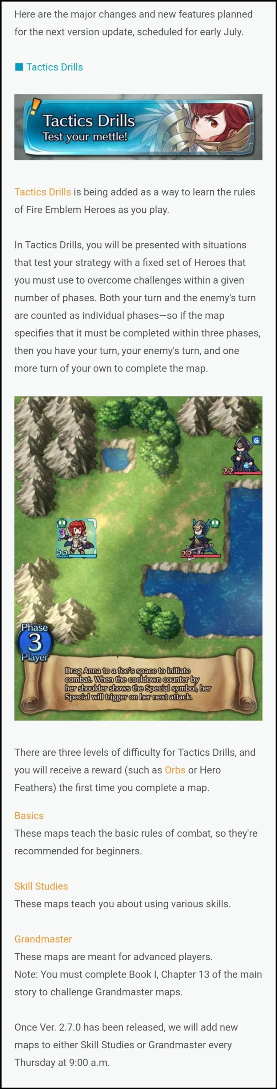 Fire Emblem Heroes Version 2.7.0