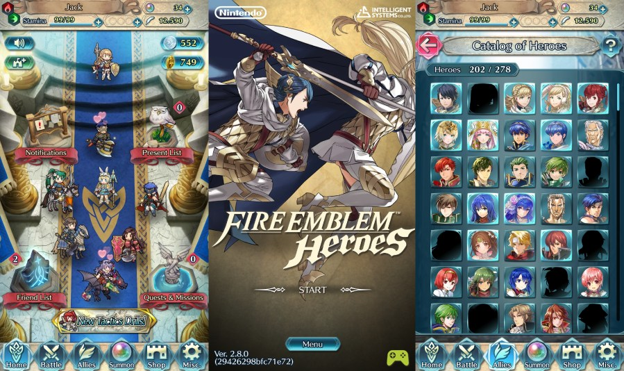 Fire Emblem Heroes version 2.8.0