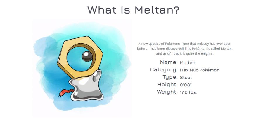 Meltan Pokémon