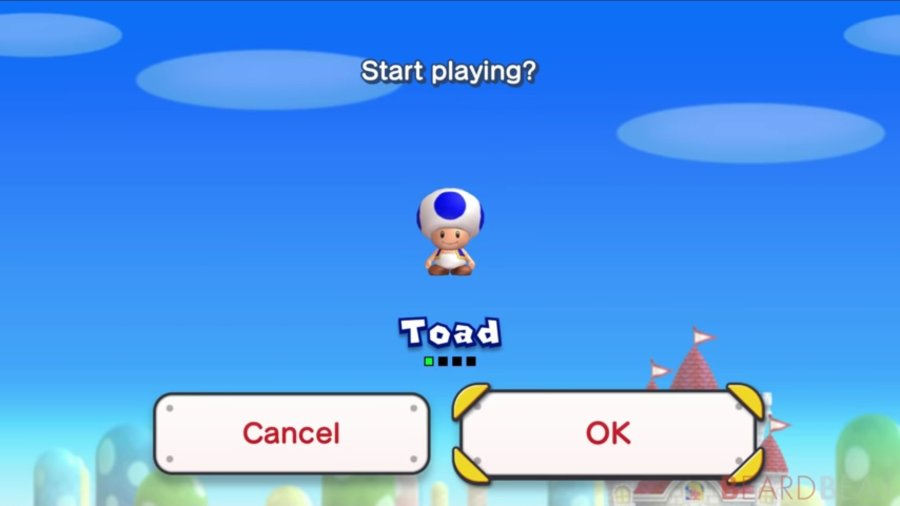 is Blue Toad in New Super Mario Bros. U Deluxe