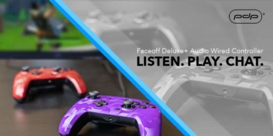 PDP Faceoff Deluxe+ Audio Wired Controller