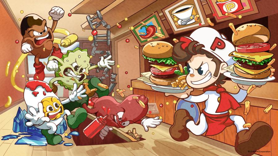 BurgerTime Party! - Key Art