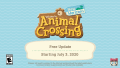 Animal Crossing New Horizons Summer Update