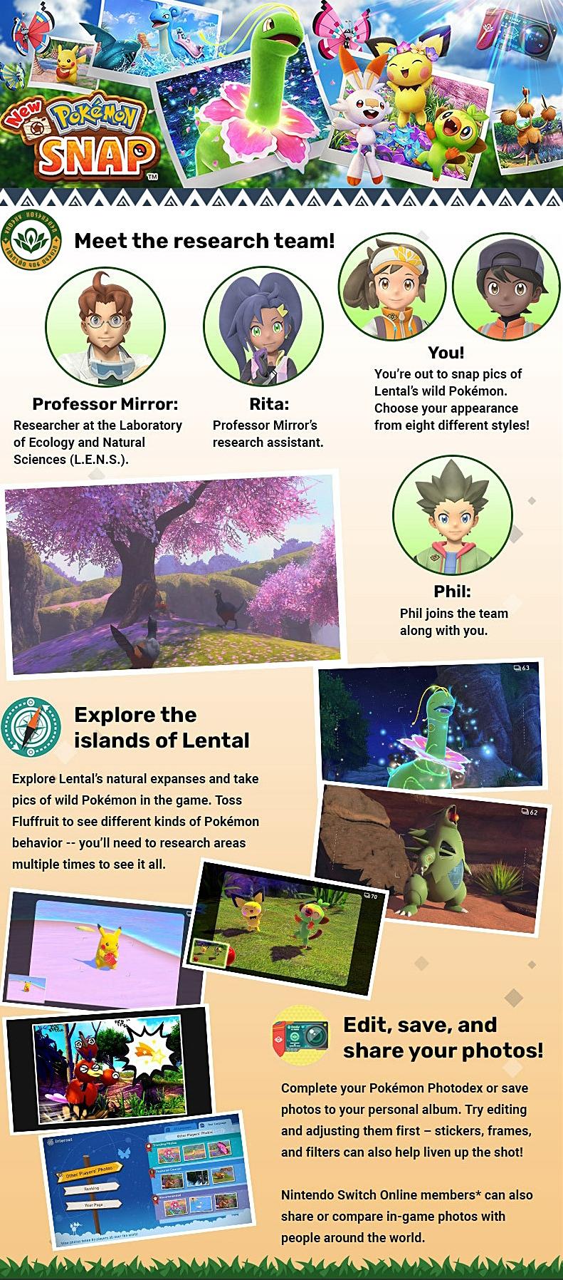 Get To Know New Pokémon Snap