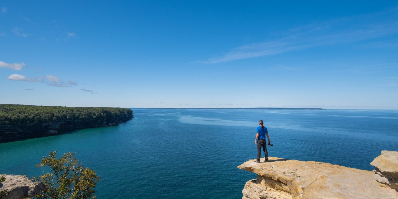 Mike Tokarz at Pictured Rocks National Lakeshore