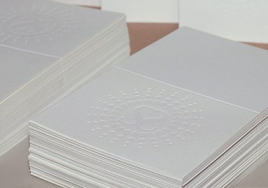Debossed Wedding Thank You Cards