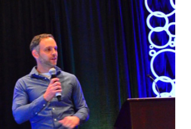 Fractional CMO Mike Volkin on stage